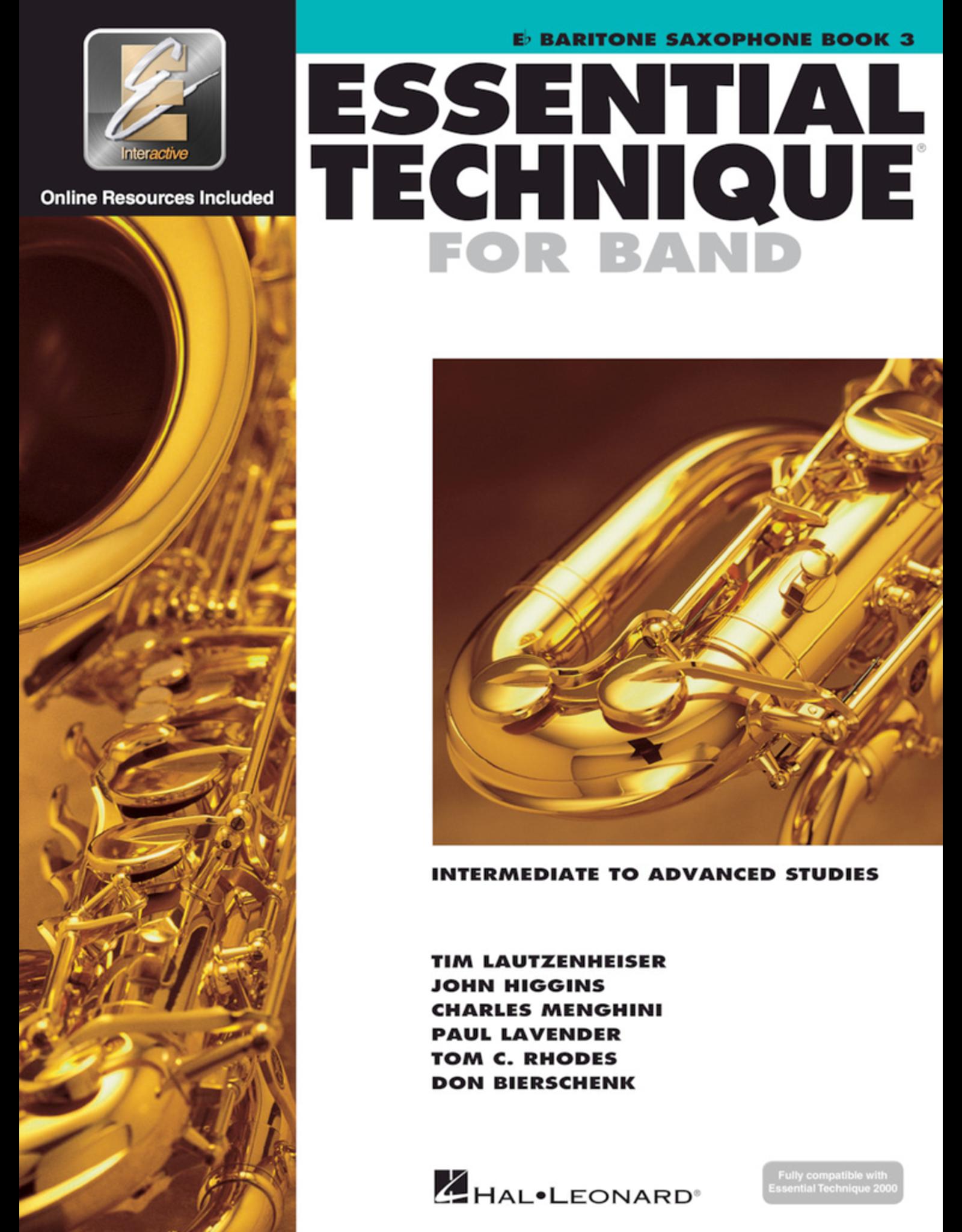 Hal Leonard Essential Technique Book 3 Baritone Sax