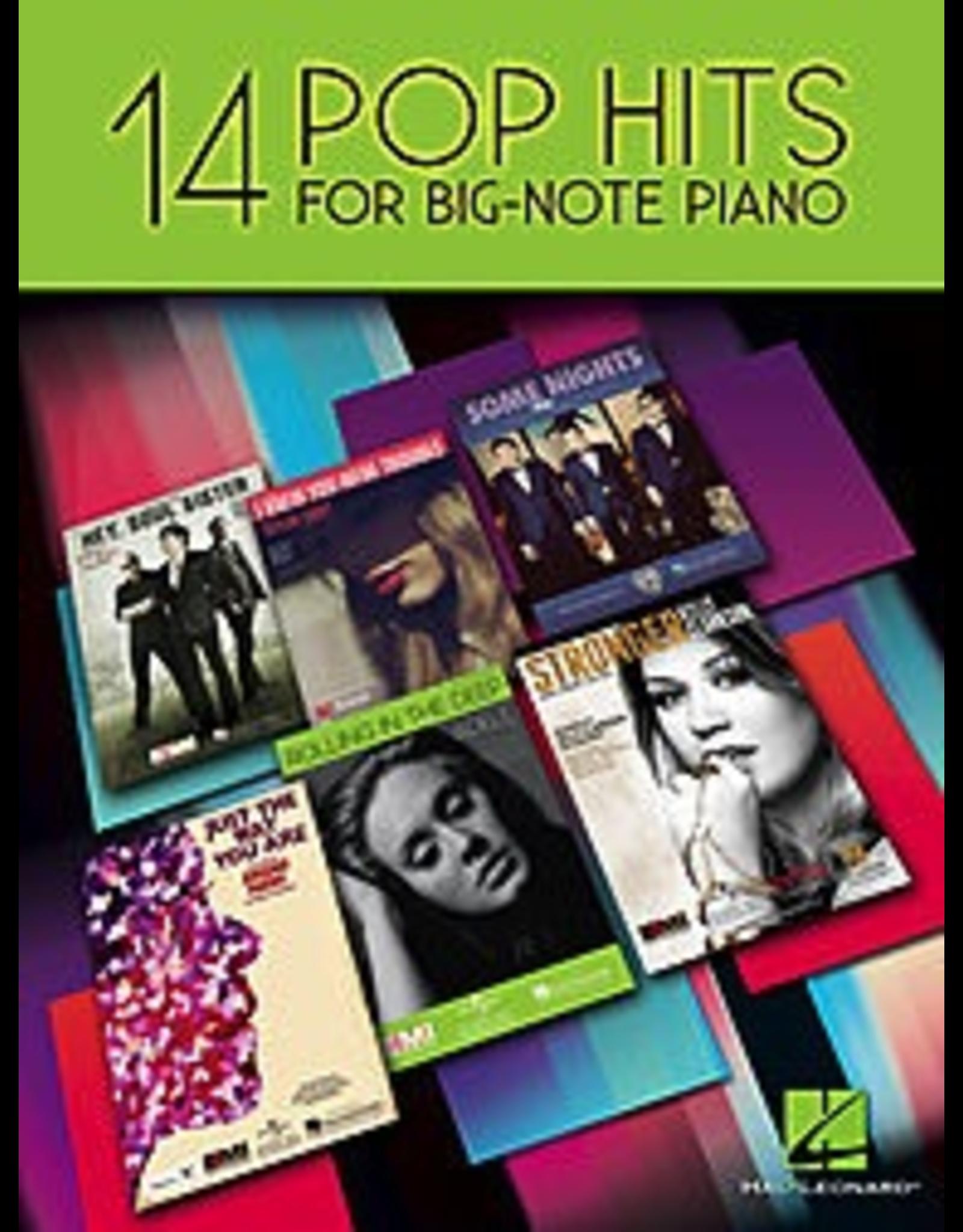 Hal Leonard 14 Pop Hits for Big Note Piano