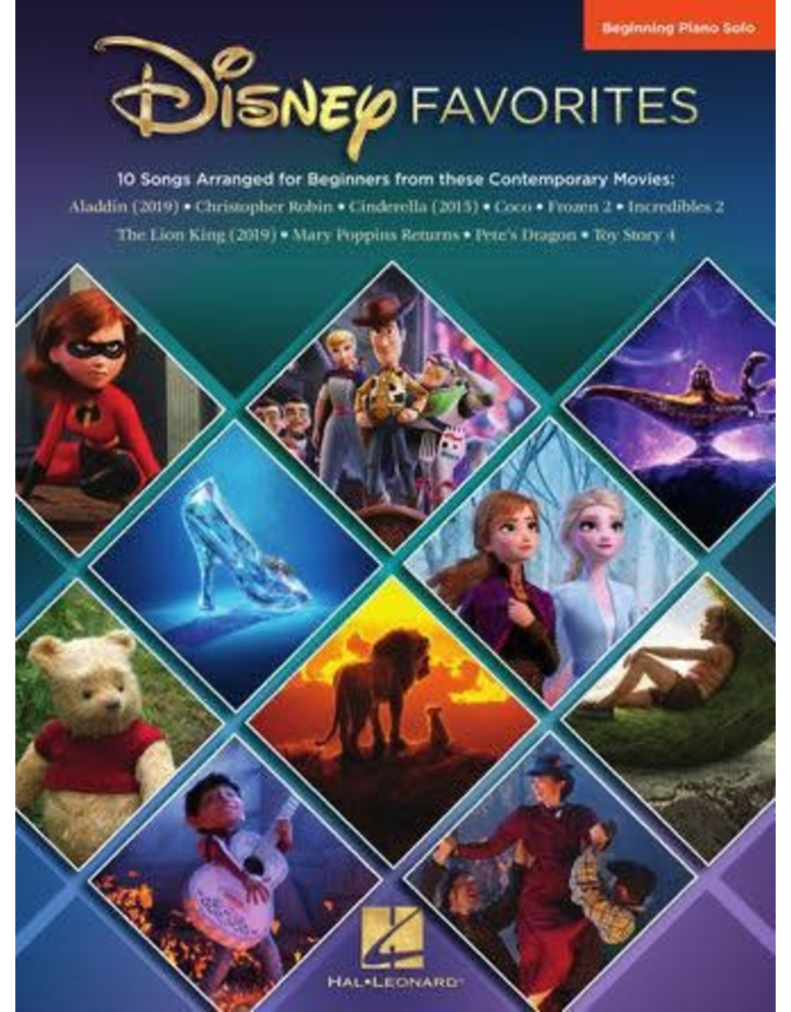 Hal Leonard Disney Favorites Beginning Piano Solo (Big Note)