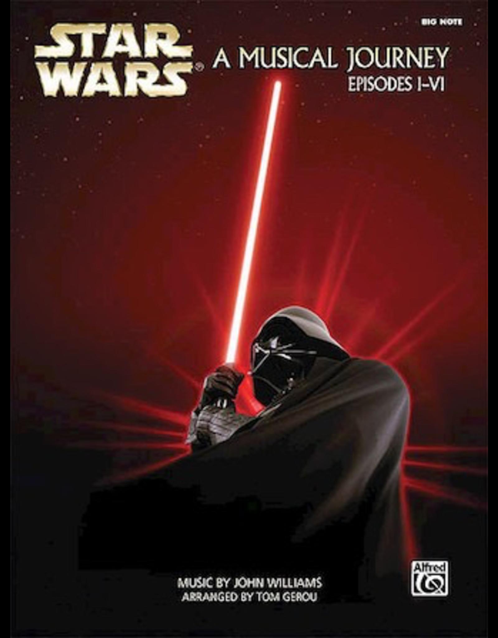 Hal Leonard Star Wars -- A Musical Journey Episodes I-VI Big Note Piano