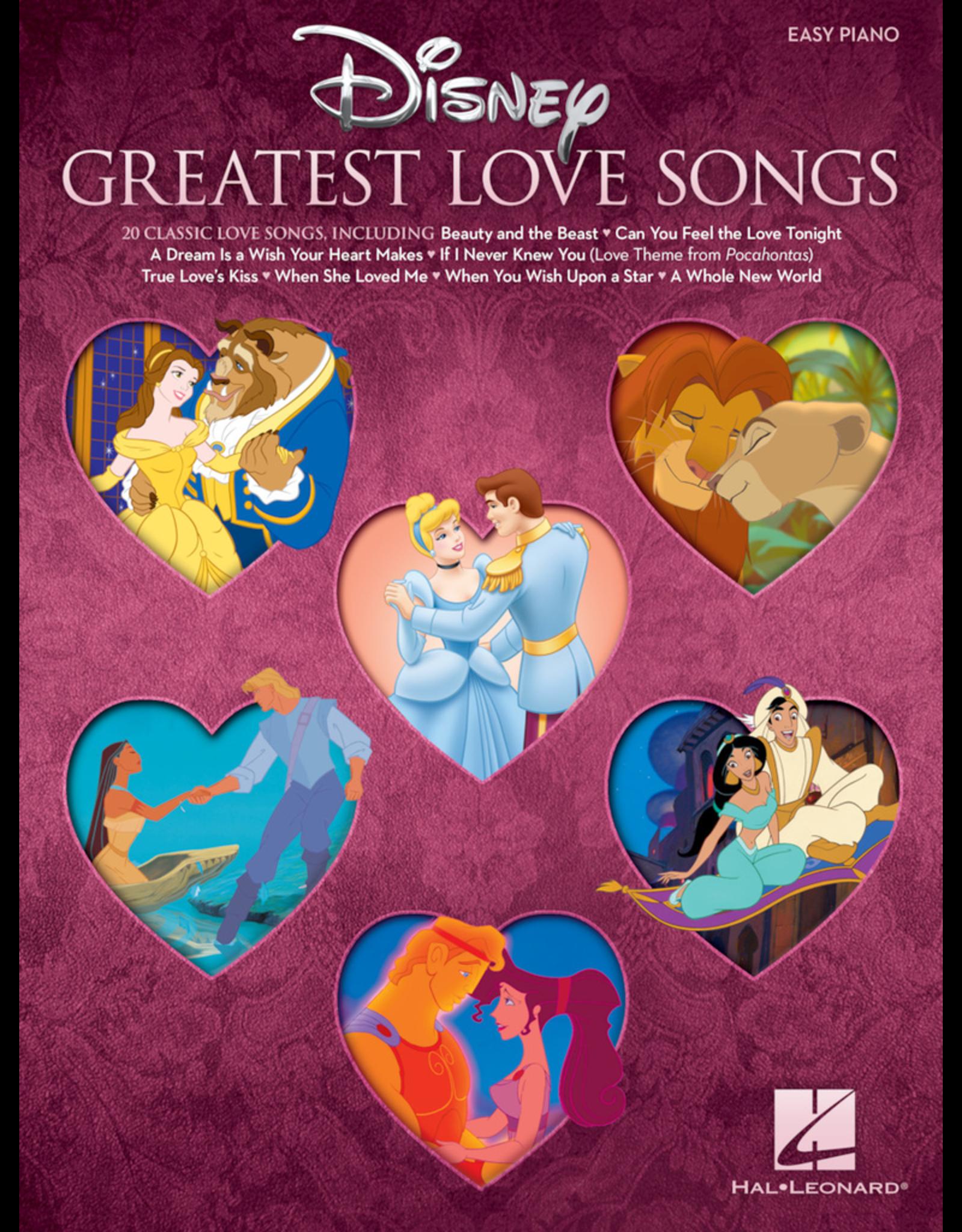Hal Leonard Disney Greatest Love Songs Easy Piano