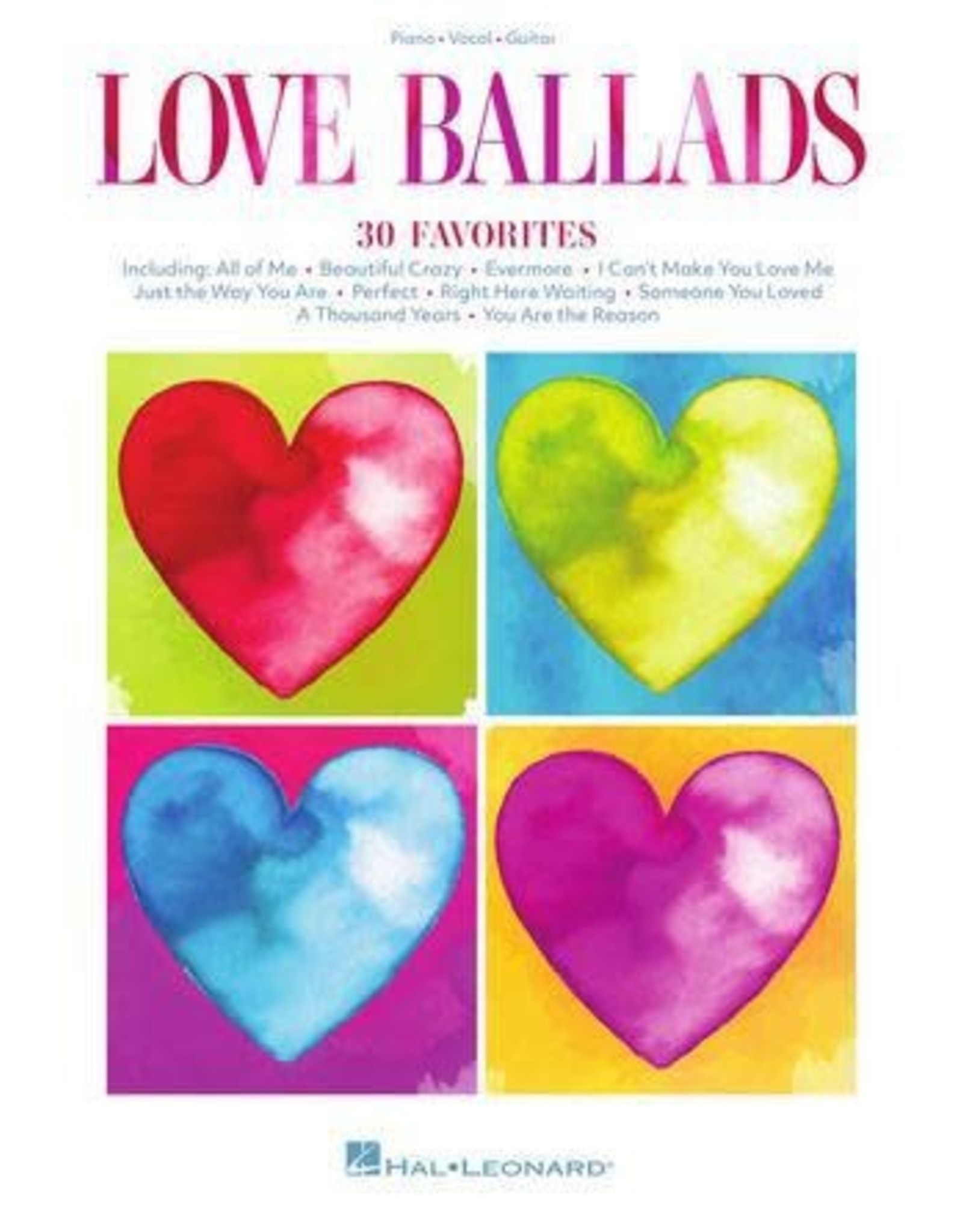 Hal Leonard Love Ballads - 30 Heart-Warming Favorites PVG