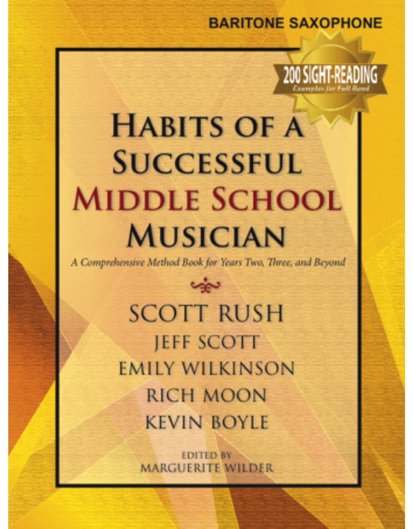 GIA Publications Habits of a Successful Middle School Musician-Baritone Saxophone