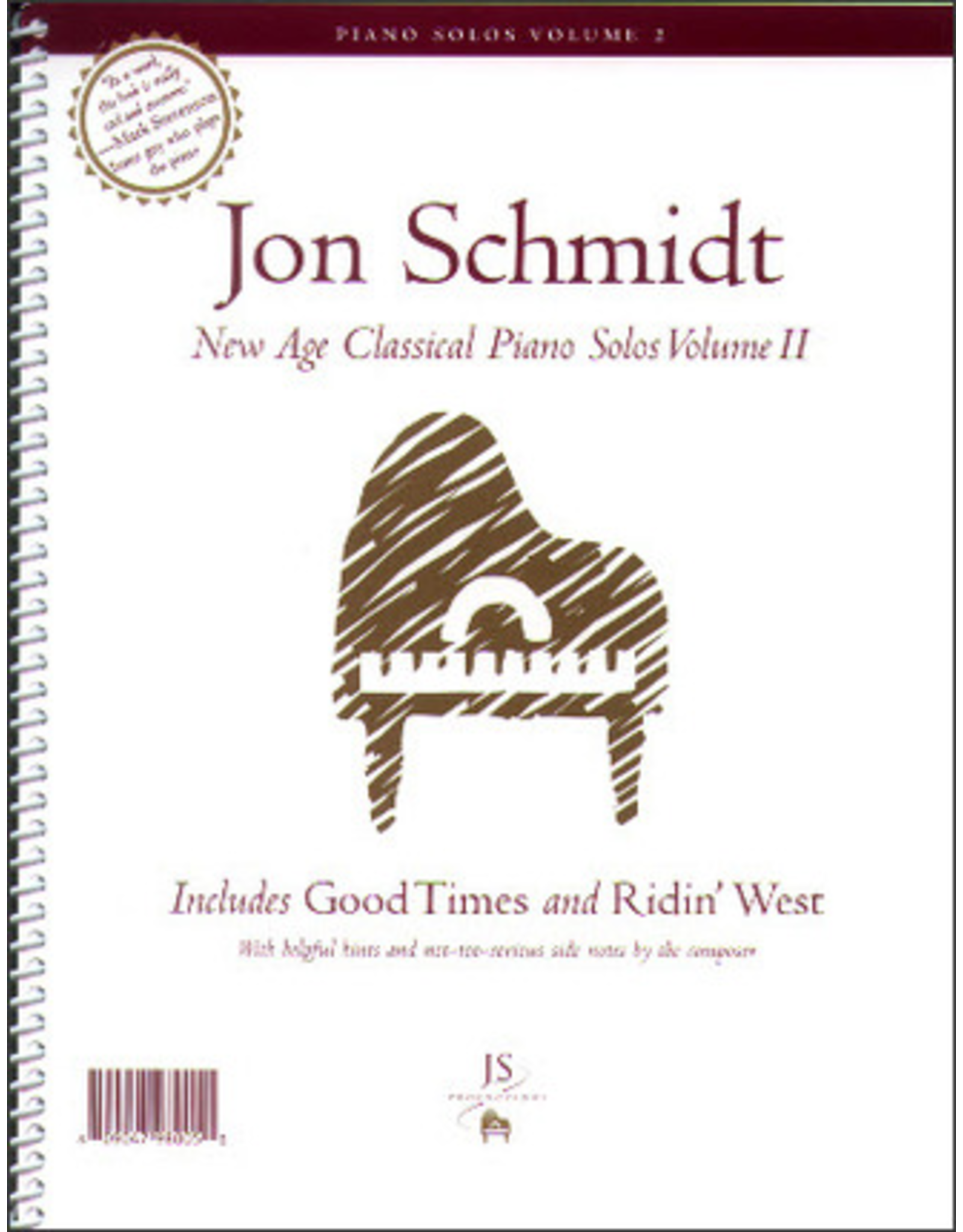 Jon Schmidt Music Jon Schmidt - New Age Classical Piano Solos Volume 2