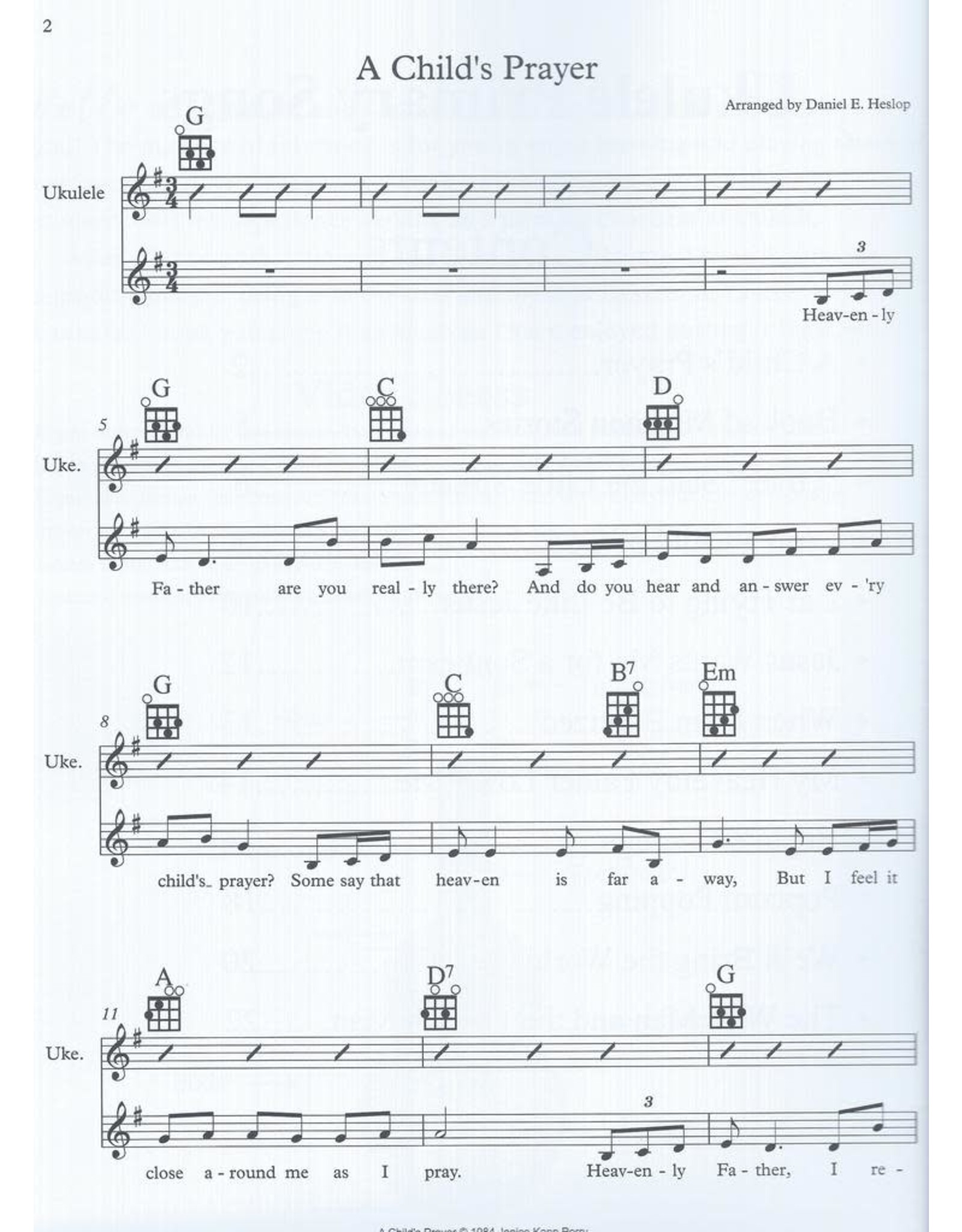Danny Heslop Music Ukulele Primary Songs Book 1 arr. Danny Heslop