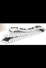 Timeless Collection Piano Keys Black & White Skinny Tie