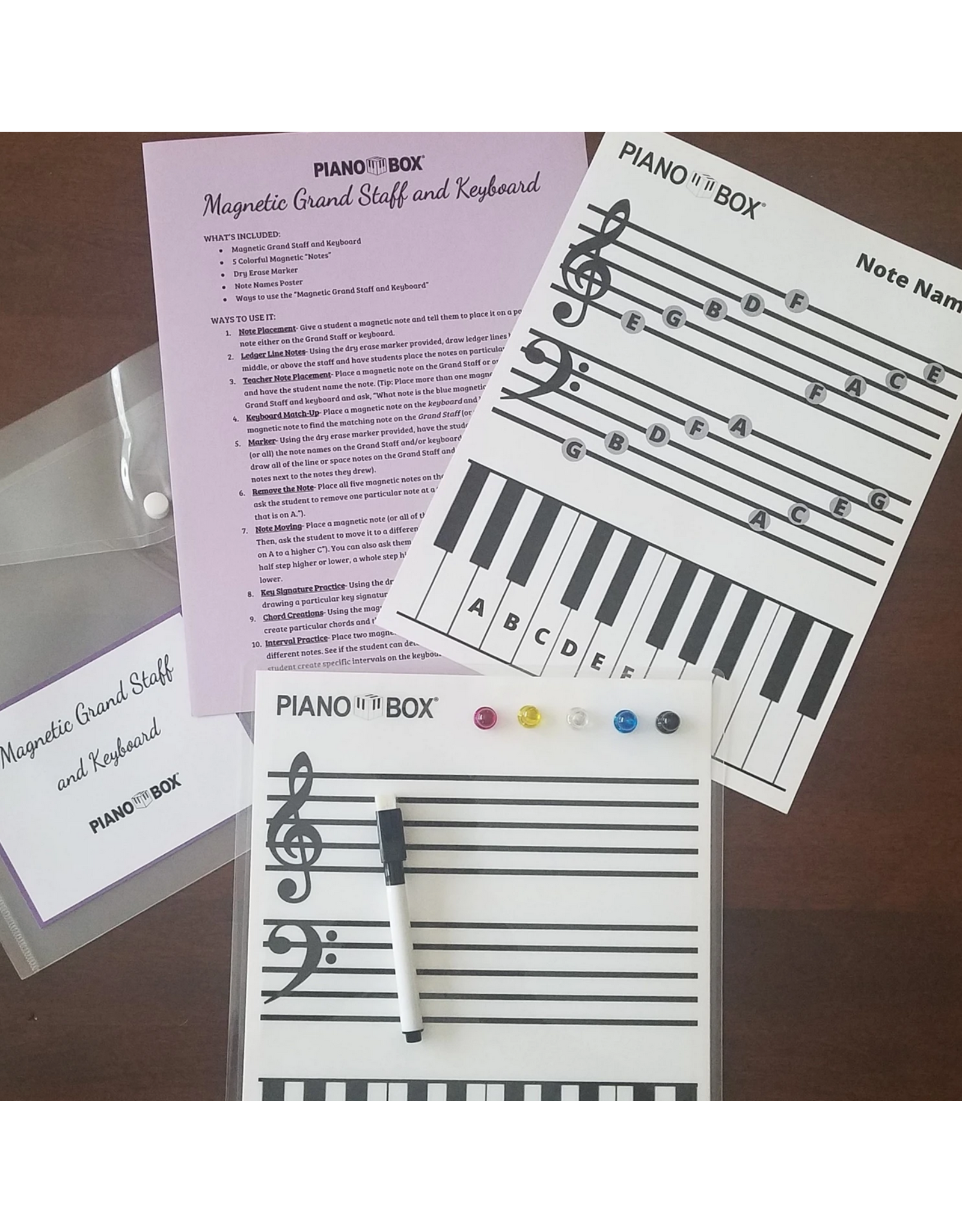 Piano Box Magnetic Grand Staff and Keyboard by Piano Box