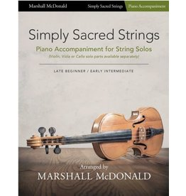 Marshall McDonald Music Simply Sacred Strings by Marshall McDonald - Piano Accompaniment