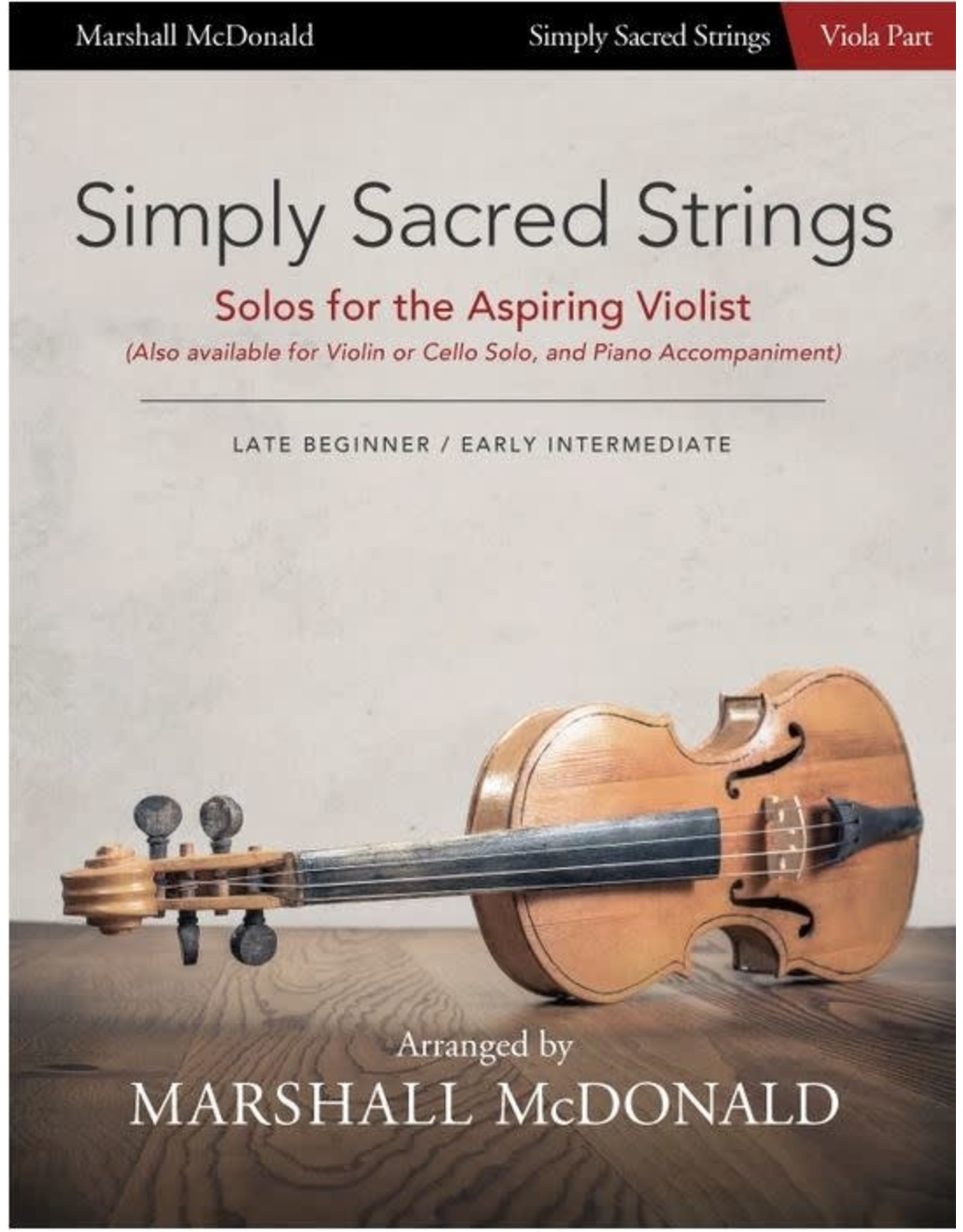 Marshall McDonald Music Simply Sacred Strings by Marshall McDonald - Viola Booklet