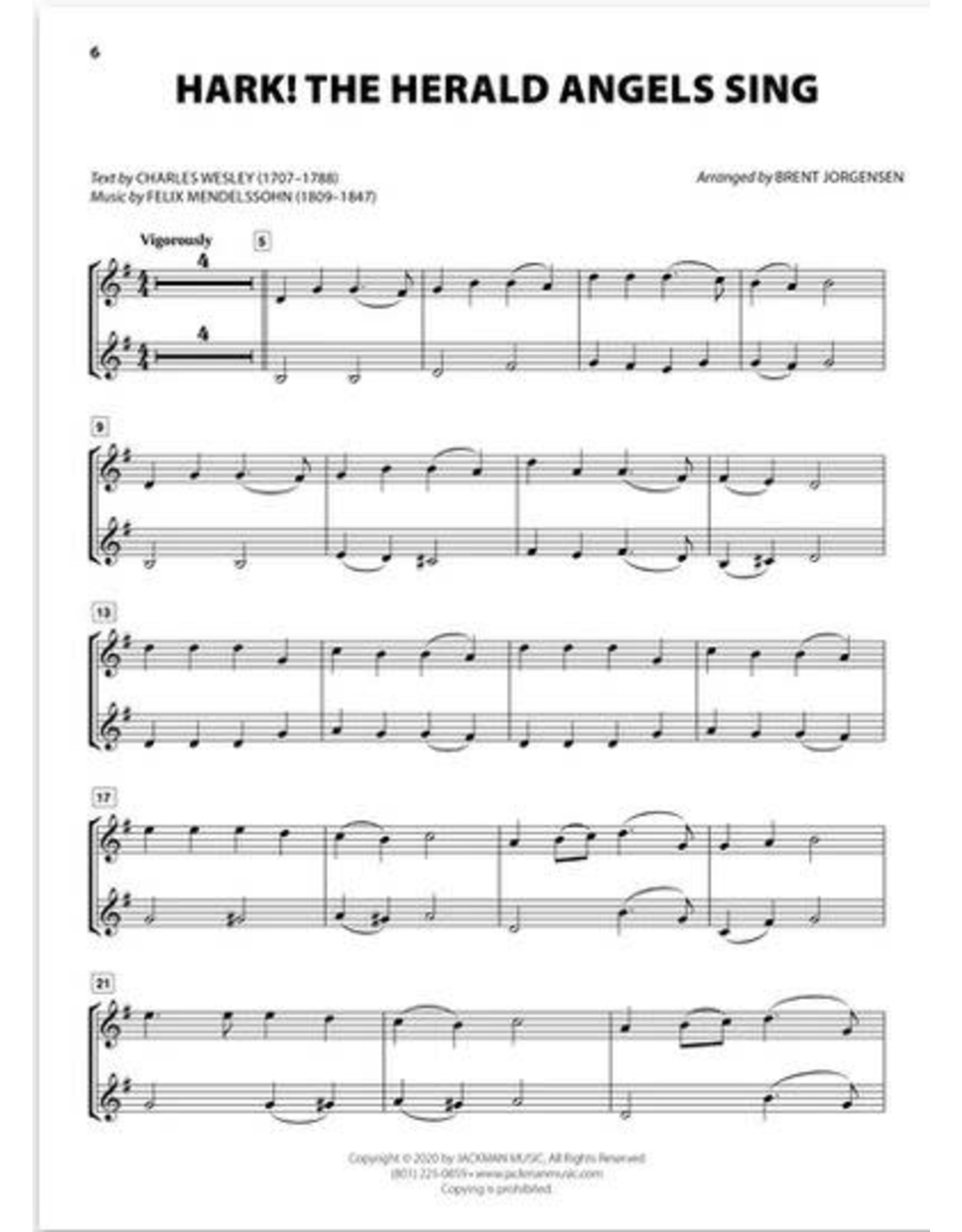 Jackman Music Christmas Hymn-Alongs - arr. Brent Jorgensen - Trumpet
