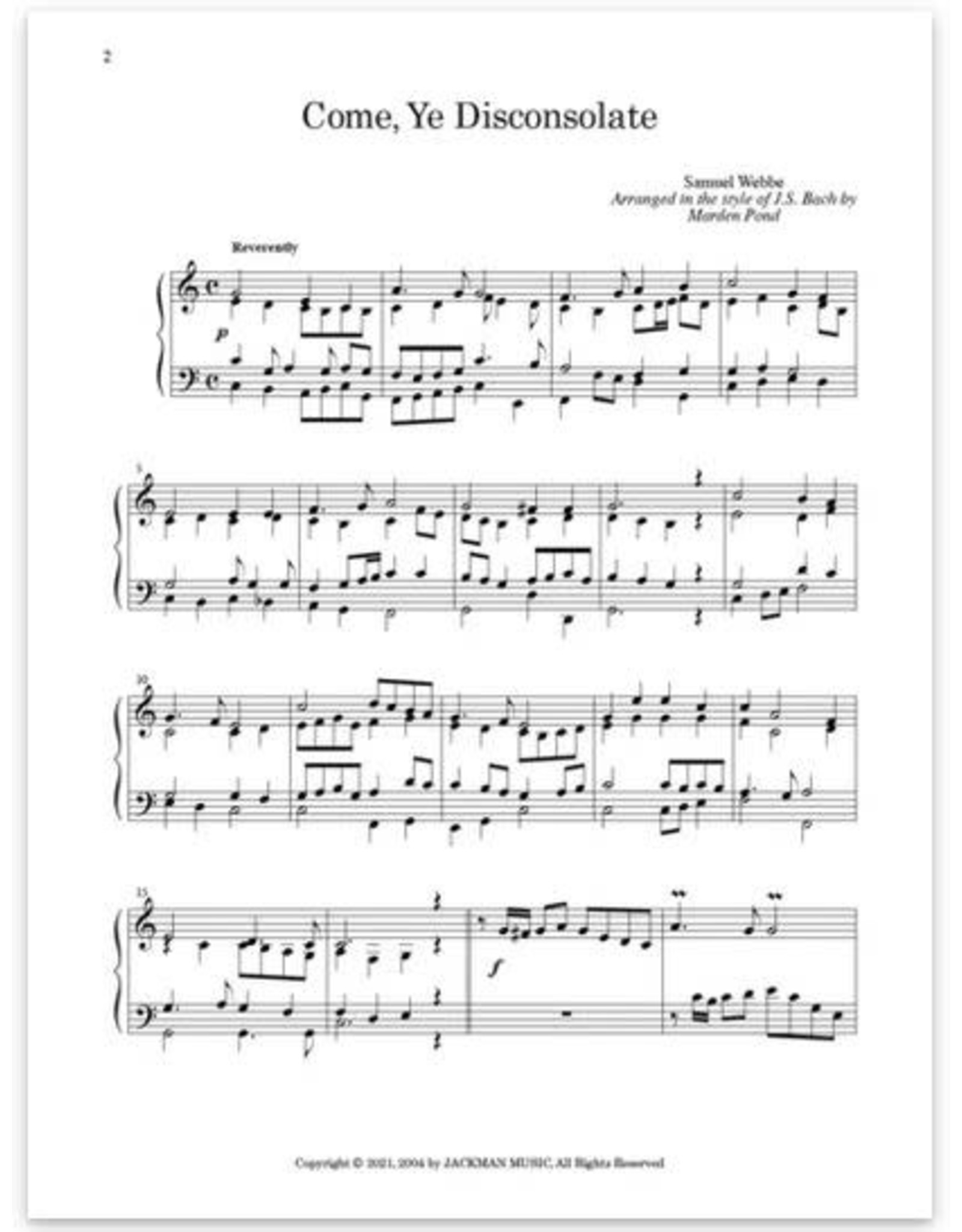 Jackman Music Master's Touch Vol. 2 arr. by Marden Pond