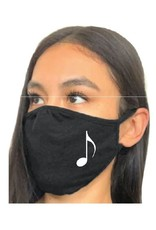 Misc. Supplier Music Face Mask - Black with White Eighth Note