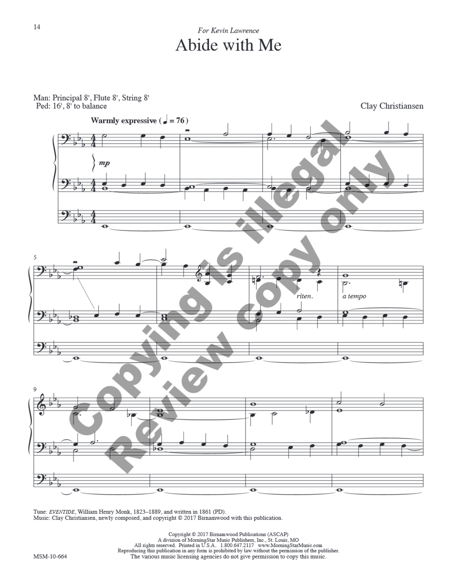 MorningStar All Things Bright and Beautiful: Eight Hymn Settings for Organ By Clay Christiansen