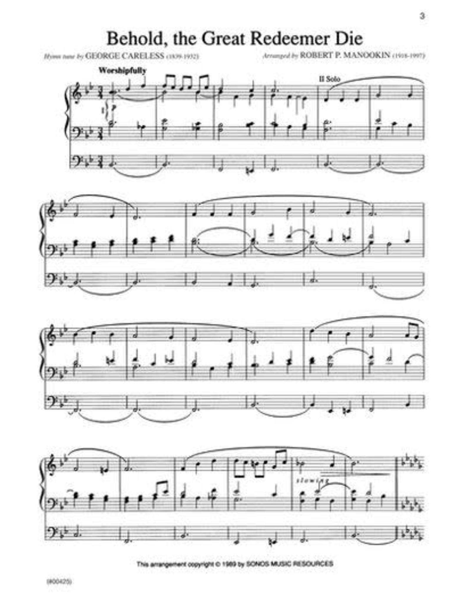 Jackman Music Hymn Preludes for Organ Book 7 arr. Robert P. Manookin