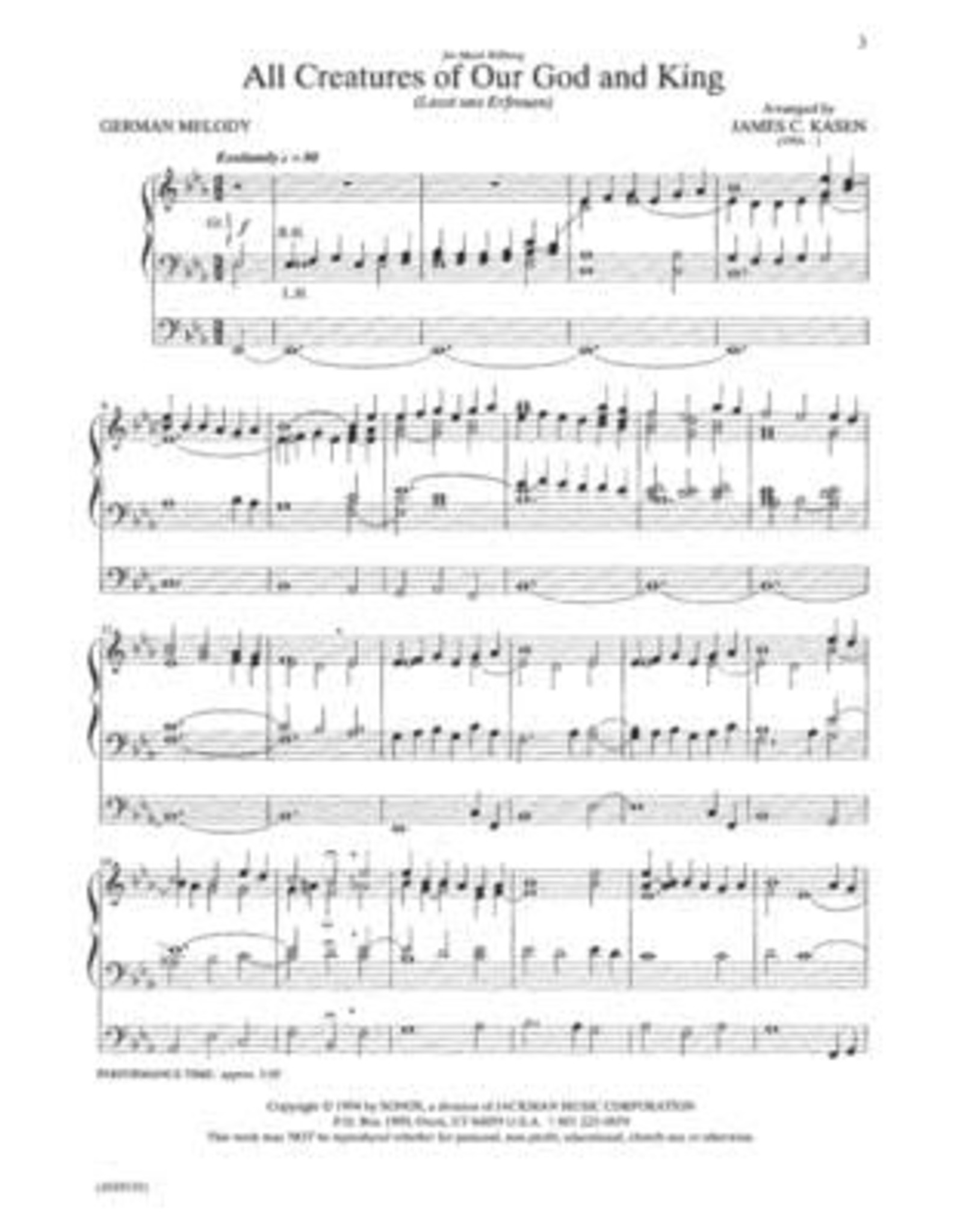Jackman Music Organ Postludes for Church Services Vol. 1 arr. James C. Kasen