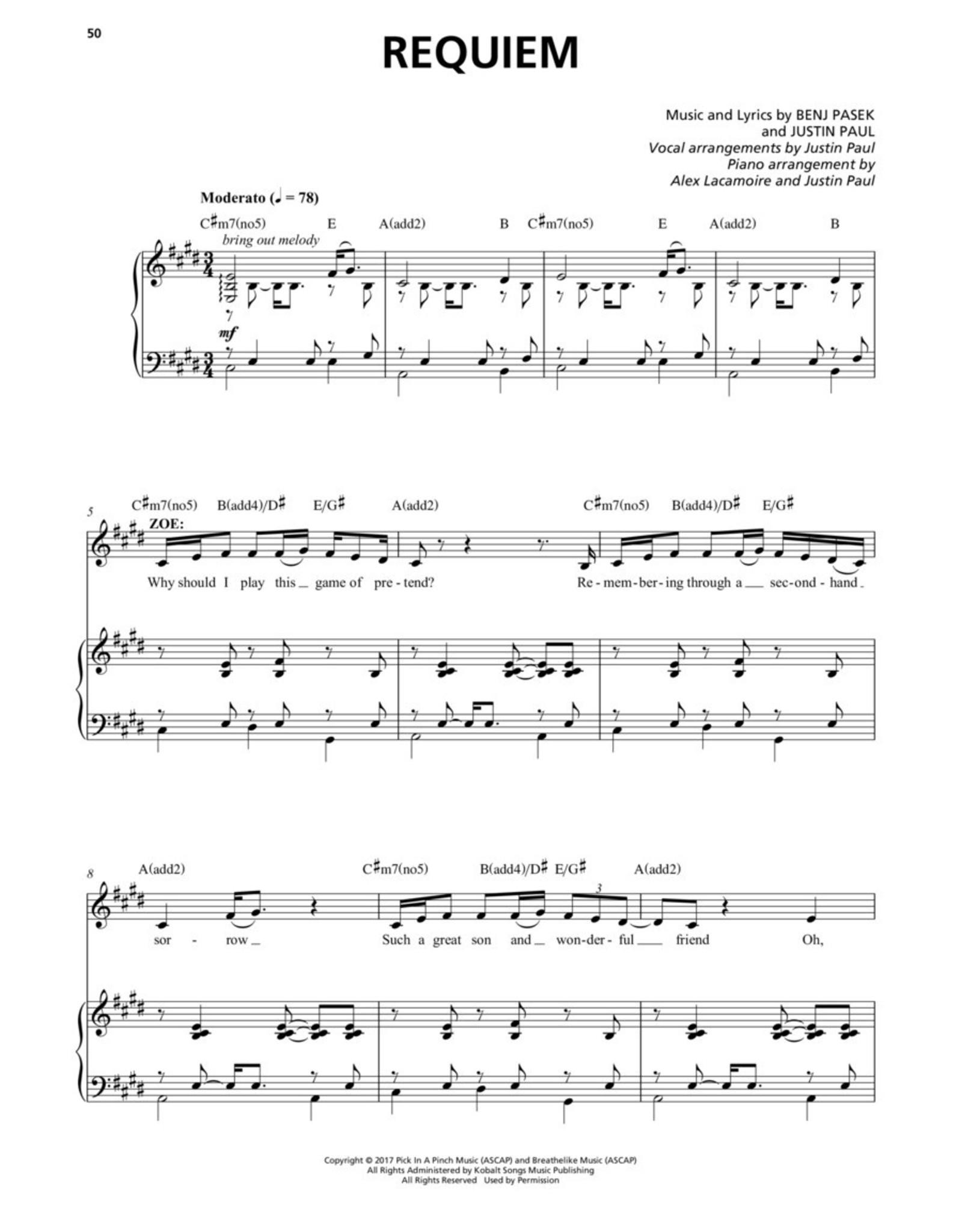 Hal Leonard Dear Evan Hansen - Vocal Selections