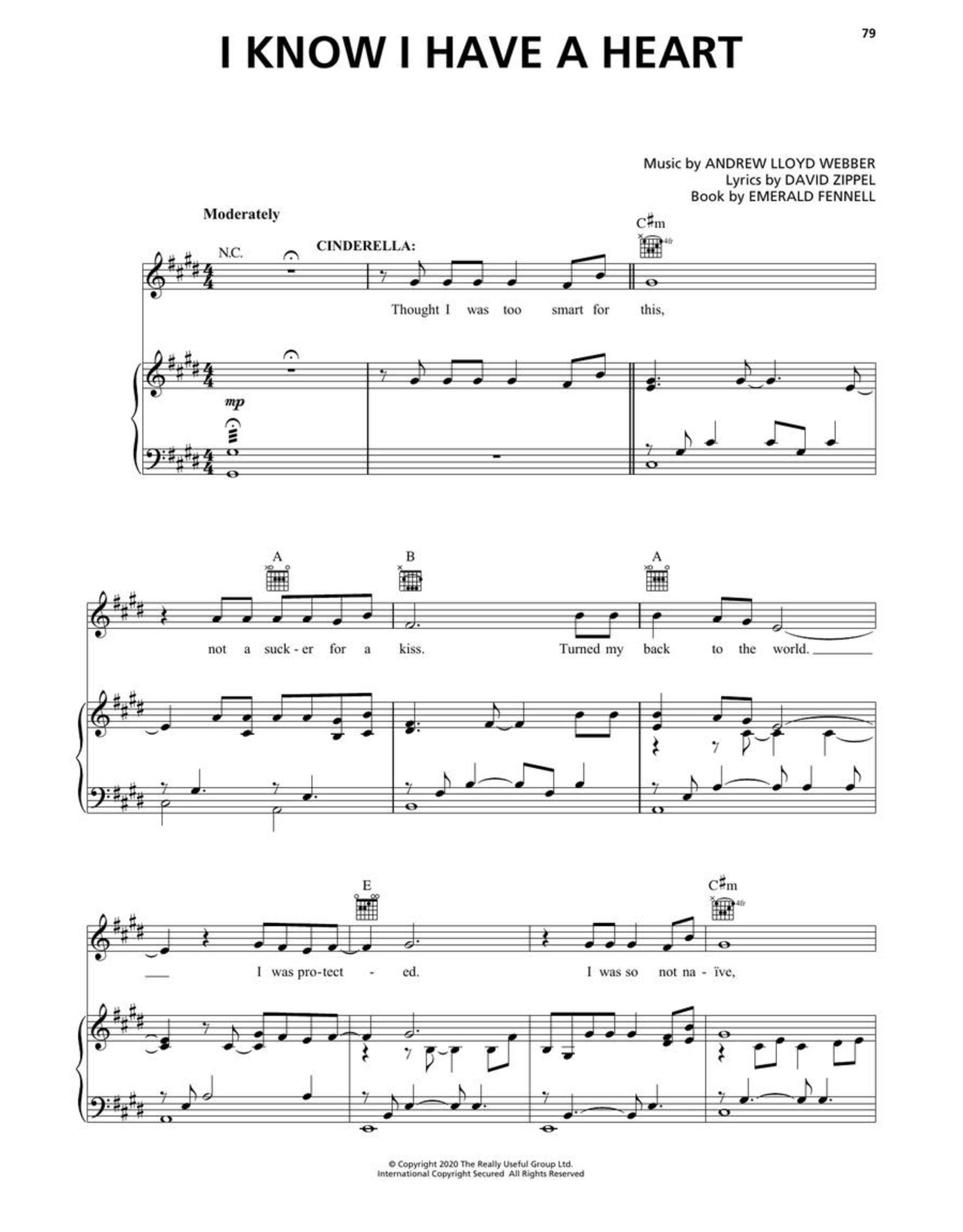 Hal Leonard Andrew Lloyd Webber's Cinderella - Piano/Vocal Selections
