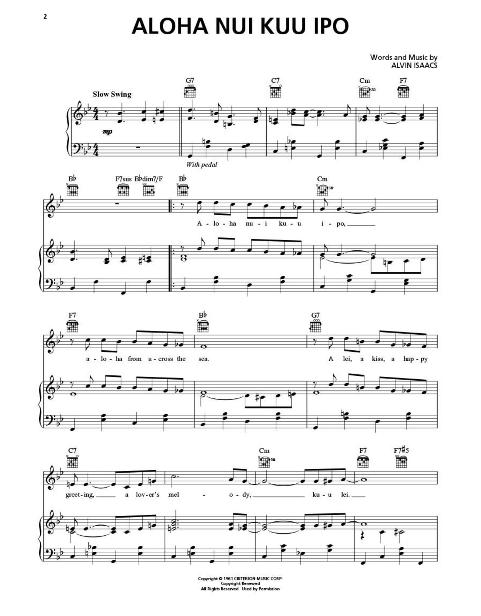 Hal Leonard Songs of Hawaii PVG