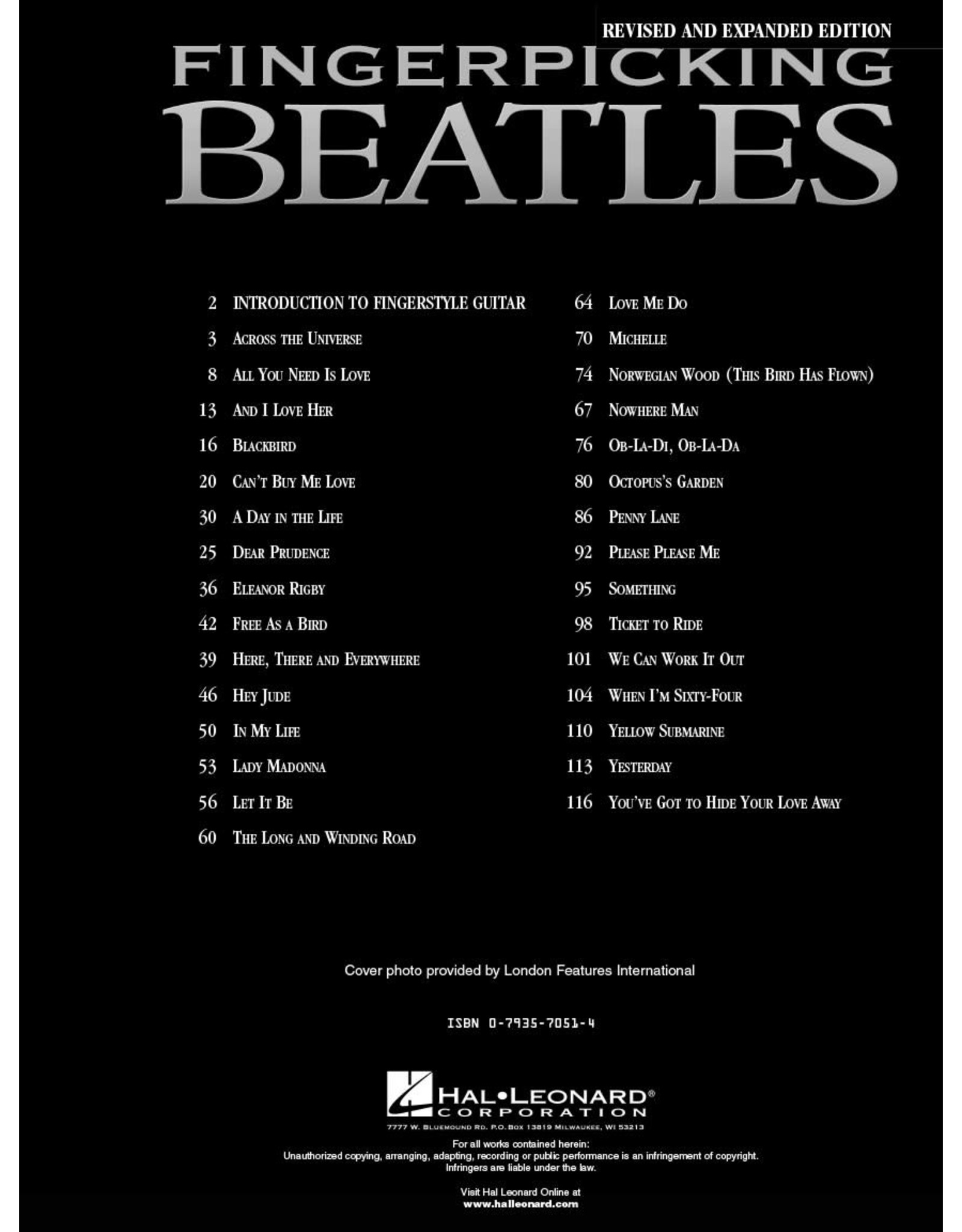 Hal Leonard Fingerpicking Beatles - 30 Songs arranged for Solo Guitar in Standard Notation and Tablature