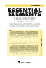 Hal Leonard Essential Elements for Guitar Book 1