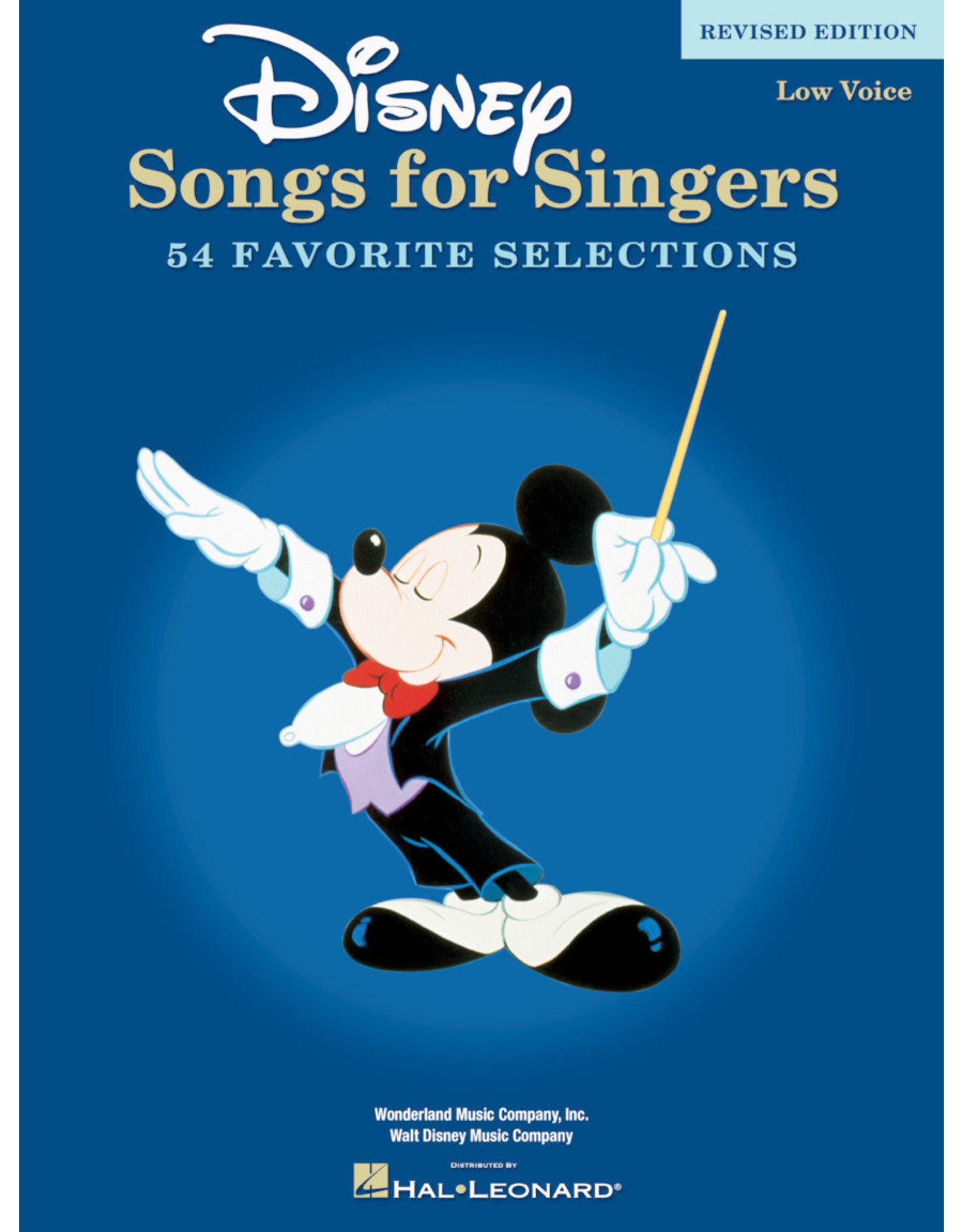 Hal Leonard Disney Songs for Singers - 45 Classics for Low Voice