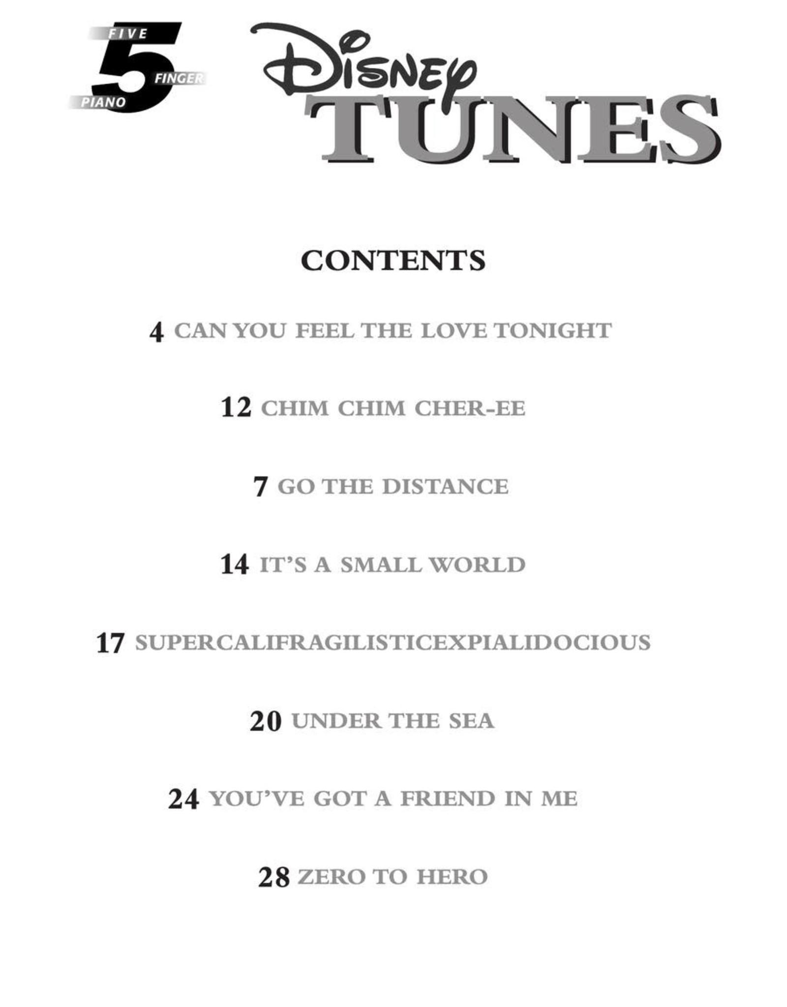 Hal Leonard Disney Tunes - 5-Finger