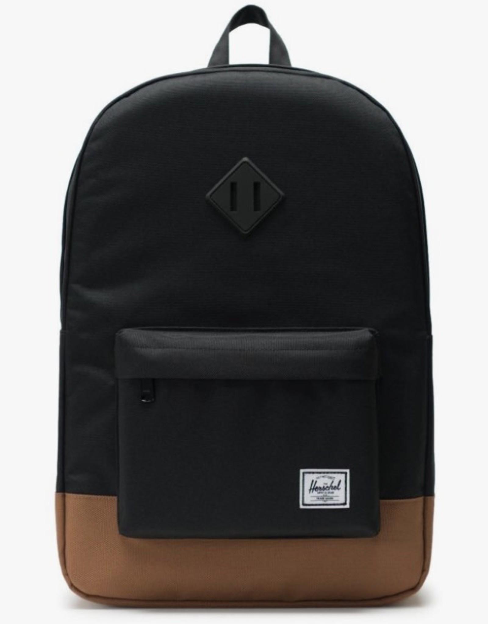 Herschel Heritage Black/Saddle Brown