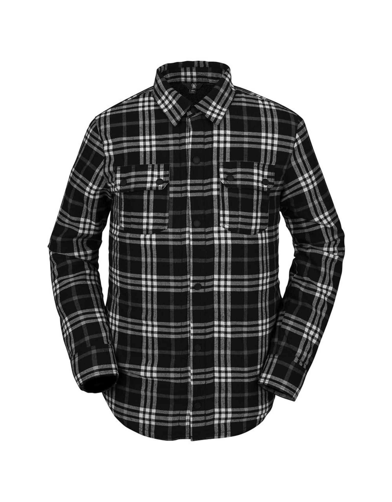 VOLCOM Sherpa Flannel Jacket - Black