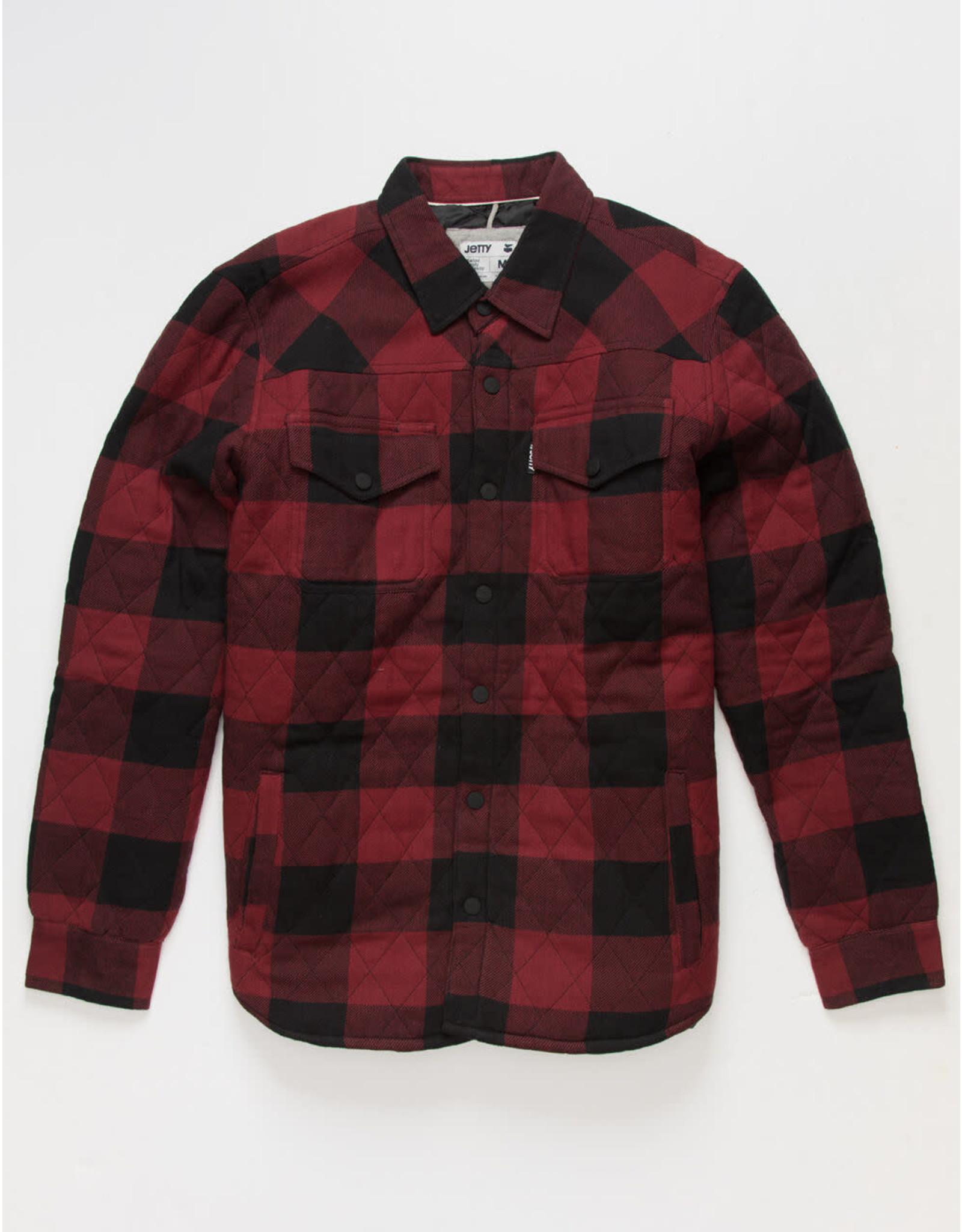 Jetty M's Seine Quilted Red Jacket XL