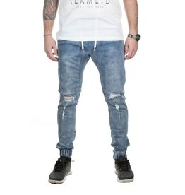 TEAMLTD M's Joggers Distressed Denim