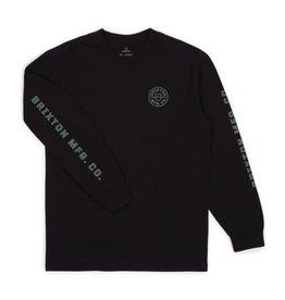 Brixton M's Crest L/S STT - Black
