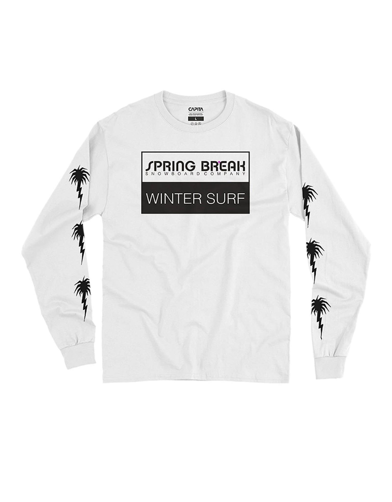 Capita! L/S Springbreak Winter Surf T-Shirt - White - XL