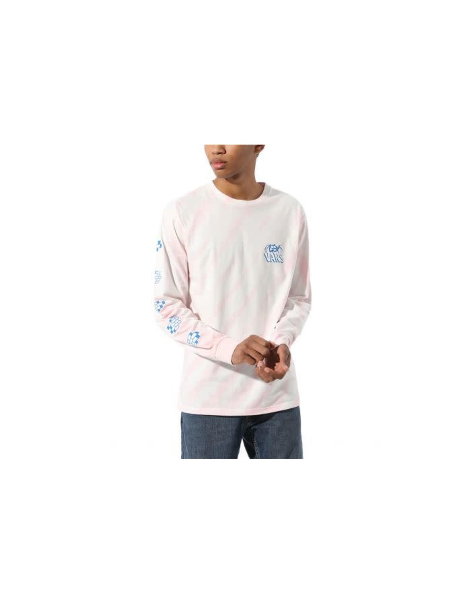 Vans Men's L/S Widow Maker Tie - Pink/White