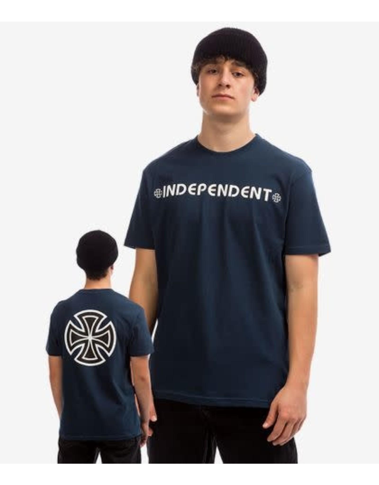 Independent Bar Cross S/S Tee - Navy