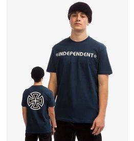 Independent Bar Cross S/S Tee - Navy