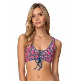Maaji Allure Long Line Triangle Bikini Top