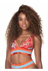 Maaji Paradizzia Long Line Triangle Bikini Top