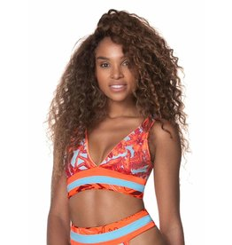 Maaji Paradizzia Long Line Triangle Bikini Top