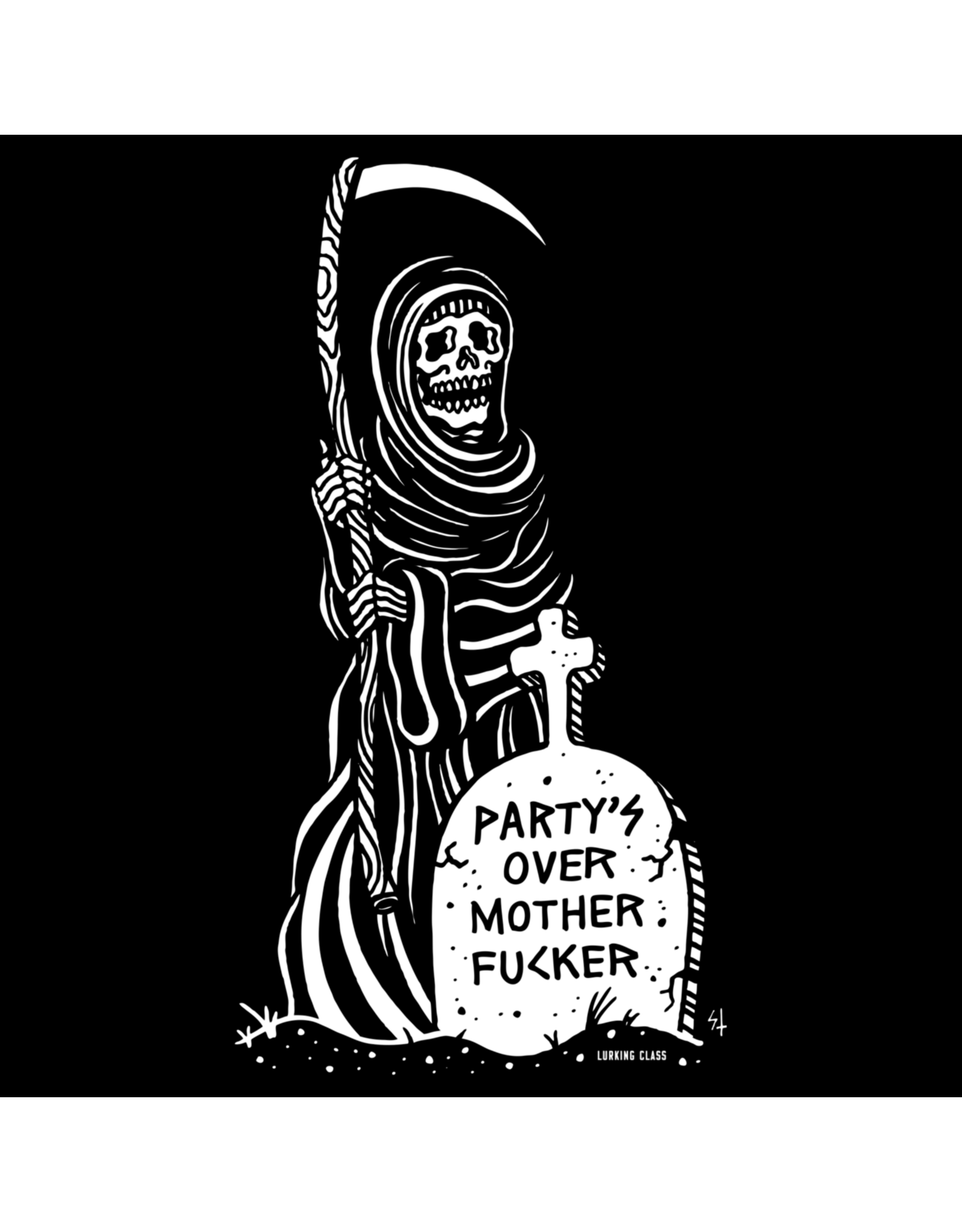 Sketchy Tank Party's Over Tee