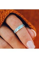 Pura Vida Reversible MOP Wave Ring