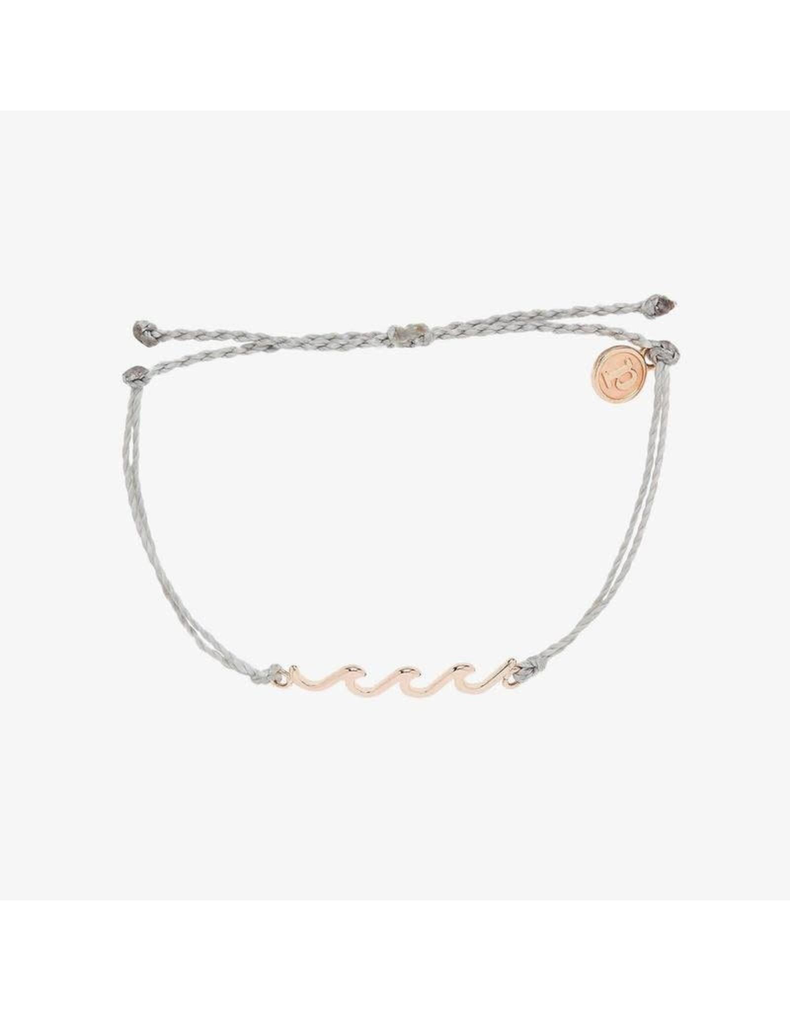 Pura Vida Rose Gold Delicate Wave Bracelet