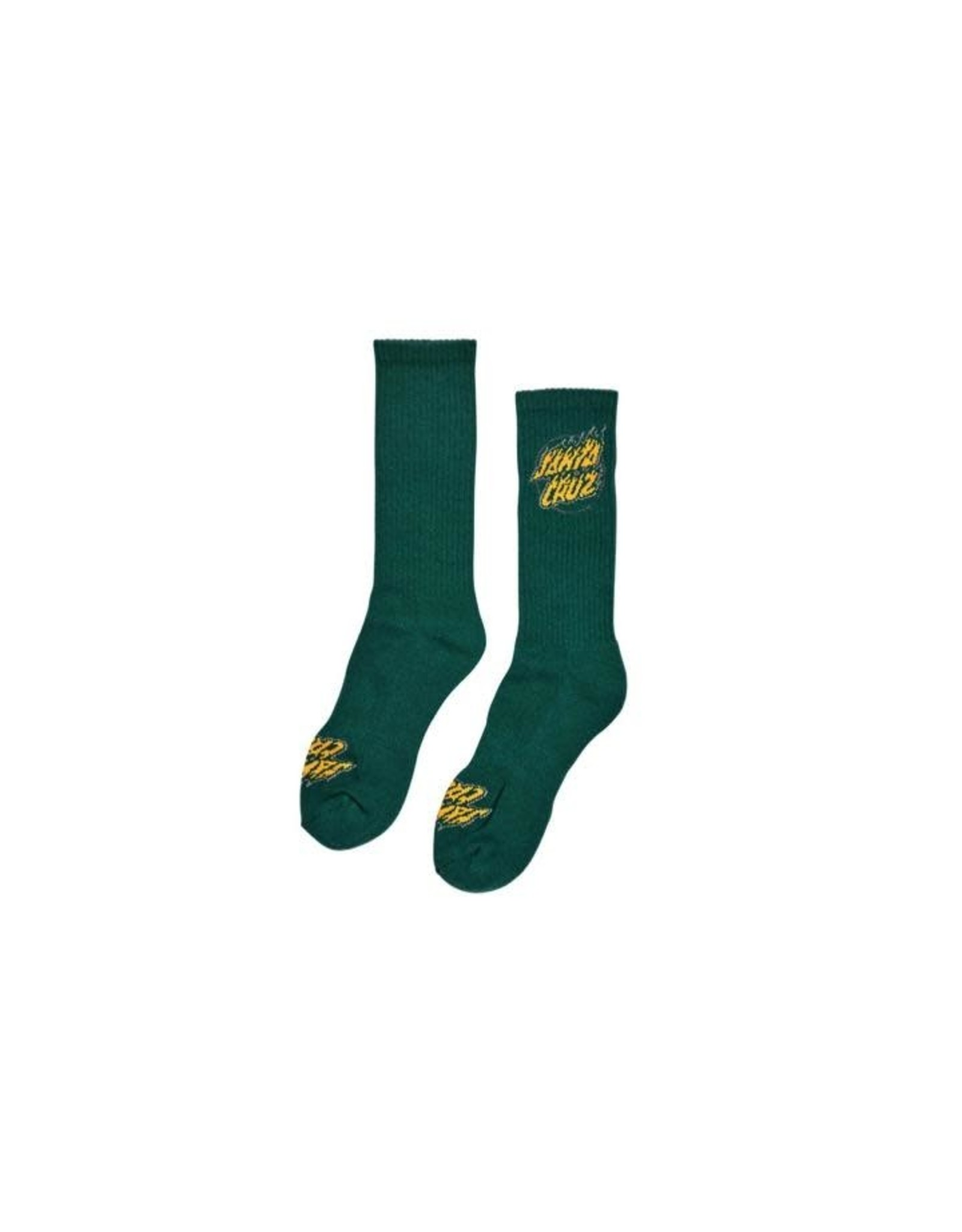 Santa Cruz Absent Flame Dot Mid Crew Socks