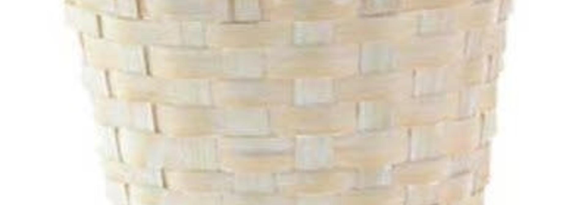 Panier osier blanc