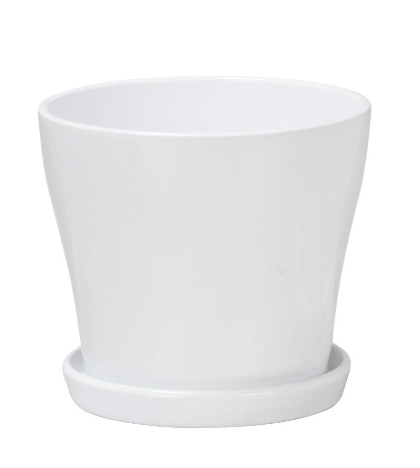 Pot soucoupe blanc-1
