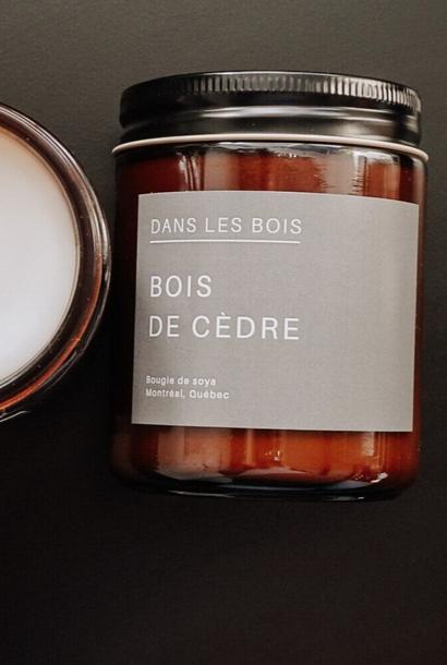 Bois de cèdre - Bougie