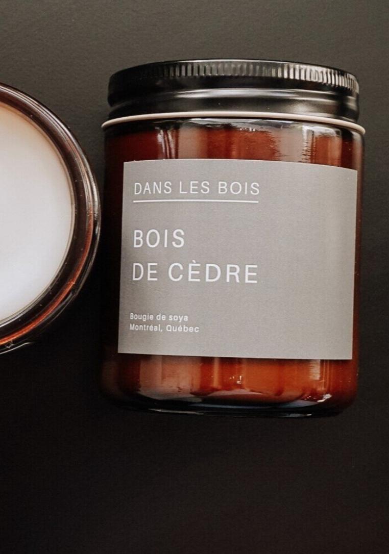 Bois de cèdre - Bougie-1