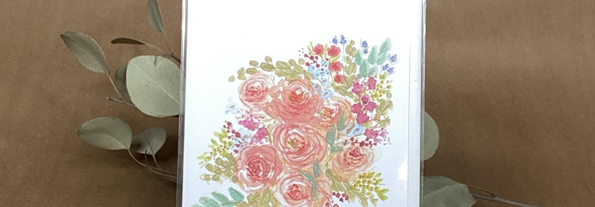 Douce floraison - Carte
