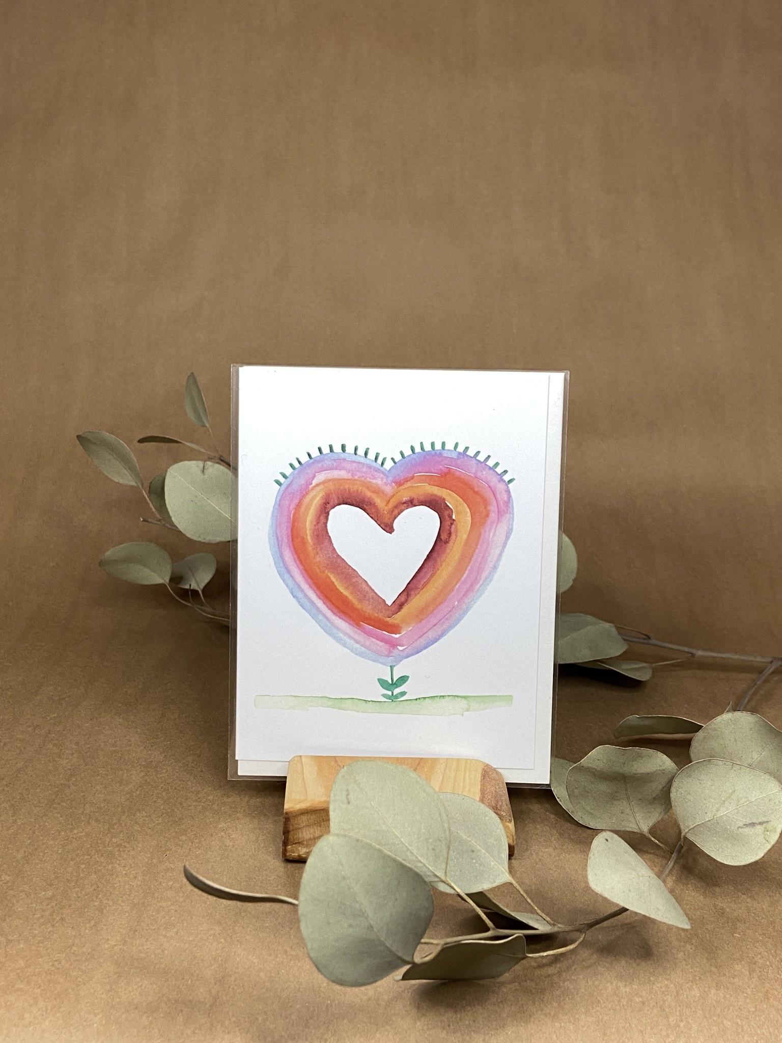 Fleur en coeur - Carte-1