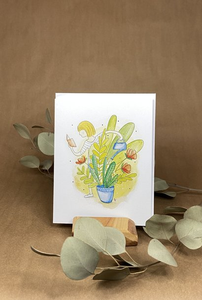 Filles fleuries Livre - Carte B3
