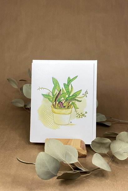Pot plante - Carte A3
